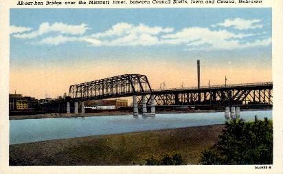 Ak-Sar-Ben Bridge - Omaha, Nebraska NE Postcard