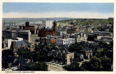 Bird's Eye View - Omaha, Nebraska NE Postcard