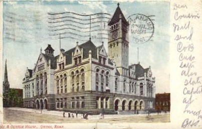 Custom House - Omaha, Nebraska NE Postcard