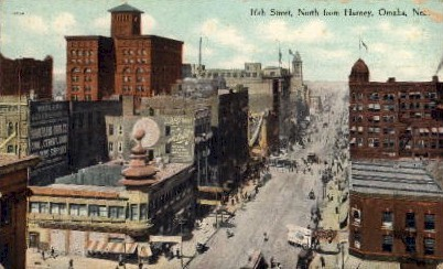 16 Street North from Harney - Omaha, Nebraska NE Postcard