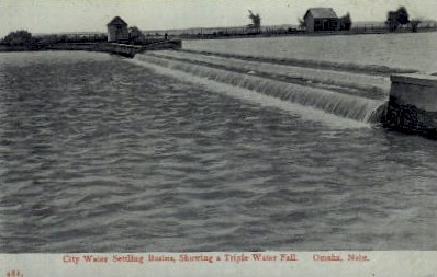 City Water Settling Basins - Omaha, Nebraska NE Postcard