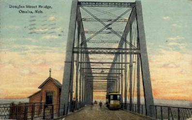 Douglas Street Bridge - Omaha, Nebraska NE Postcard