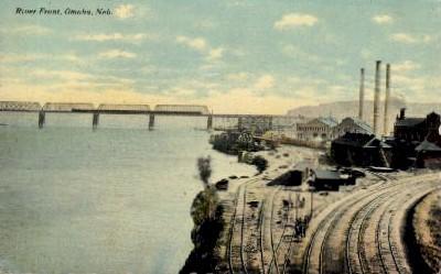 River Front - Omaha, Nebraska NE Postcard