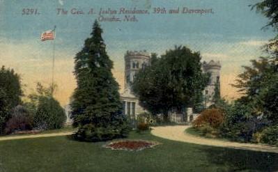 The Geo. A. Joslyn Residence - Omaha, Nebraska NE Postcard