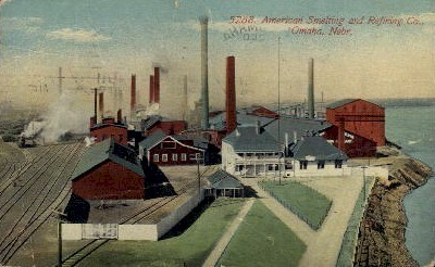 American Smelting and Refining Co. - Omaha, Nebraska NE Postcard