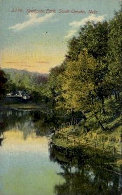 Syndicate Park - Omaha, Nebraska NE Postcard