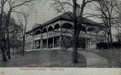 Hanscom Park Pavilion - Omaha, Nebraska NE Postcard