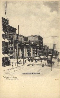 Sixteenth Street - Omaha, Nebraska NE Postcard