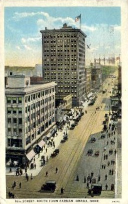 16th Street South from Farnam - Omaha, Nebraska NE Postcard