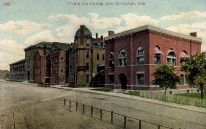 Stock Exchange - Omaha, Nebraska NE Postcard