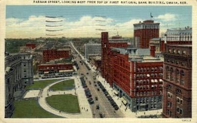 Farnam Street - Omaha, Nebraska NE Postcard