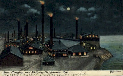 Grant Smelting and Refining Co. - Omaha, Nebraska NE Postcard