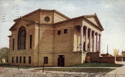 First Baptist Church - Omaha, Nebraska NE Postcard
