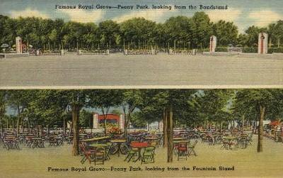 Famous Royal Grove - Peony Park - Omaha, Nebraska NE Postcard