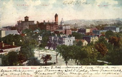 Snap Shot of Omaha - Nebraska NE Postcard