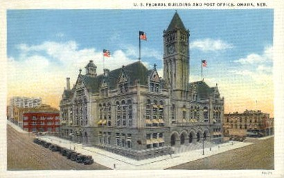 U.S. Federal Building and Post Office - Omaha, Nebraska NE Postcard