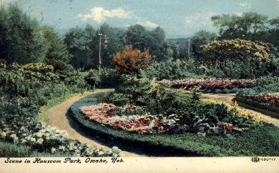 Scene in Hanscom Park - Omaha, Nebraska NE Postcard