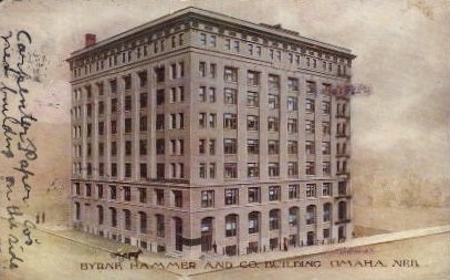 Byrne, Hammer and Co. Building - Omaha, Nebraska NE Postcard
