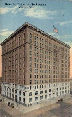 Union Pacific Railroad Headquarters - Omaha, Nebraska NE Postcard