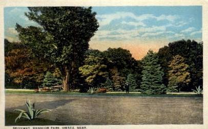 Driveway, Hanscom Park - Omaha, Nebraska NE Postcard