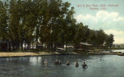 Rod & Gun Club, Lake Nakoma - Omaha, Nebraska NE Postcard