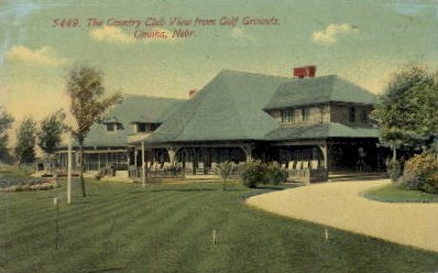 The Country Club View from Golf Grounds - Omaha, Nebraska NE Postcard