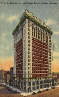 W.O.W. Building - Omaha, Nebraska NE Postcard