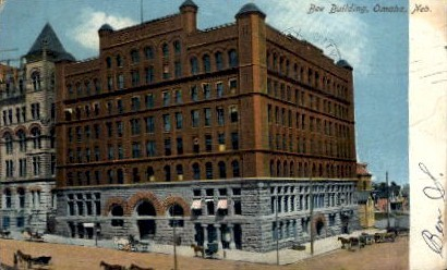 Bee Building - Omaha, Nebraska NE Postcard