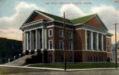 The First Christian Church - Omaha, Nebraska NE Postcard