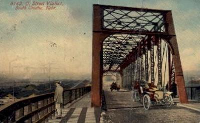 O. Street Viaduct - Omaha, Nebraska NE Postcard
