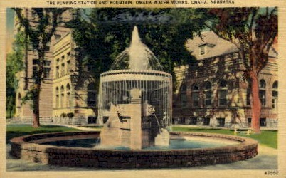 Omaha Water Works - Nebraska NE Postcard