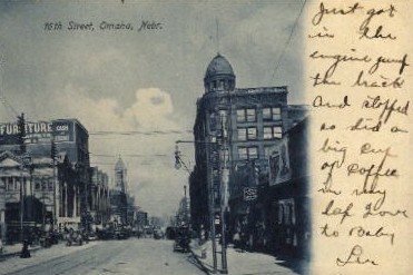 16th Street - Omaha, Nebraska NE Postcard