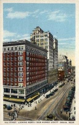 16th Street - Omaha, Nebraska NE Postcard