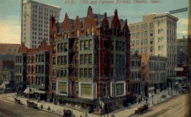 15th and Farnam Streets - Omaha, Nebraska NE Postcard