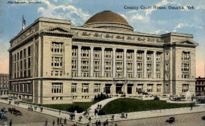 County Court House - Omaha, Nebraska NE Postcard