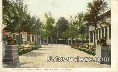 Krug Park - Omaha, Nebraska NE Postcard