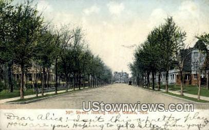 39th Street - Omaha, Nebraska NE Postcard