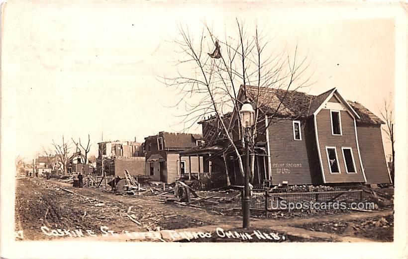 Coskin E Street after Tornado - Omaha, Nebraska NE Postcard