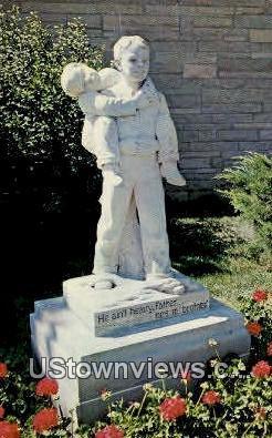Monument  - Boys Town, Nebraska NE Postcard