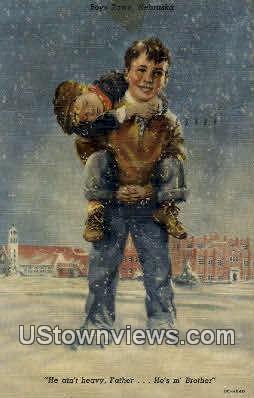 Boys Town, NE   ;   Boys Town, Nebraska Postcard