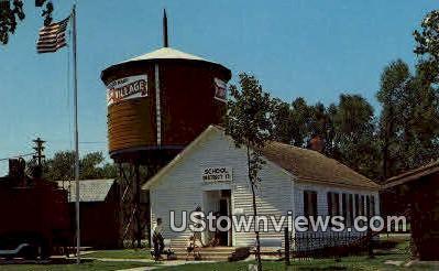 Country School, Pioneer Village - Minden, Nebraska NE Postcard
