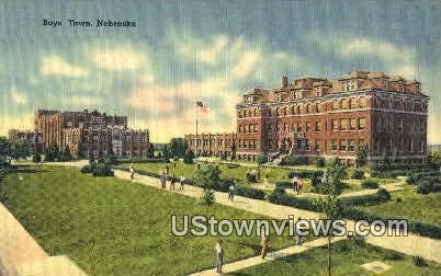 Boys Town, Neb   ;   Boys Town, Nebraska Postcard