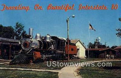1889 Baldwin Locomotive, Pioneer Village - Minden, Nebraska NE Postcard