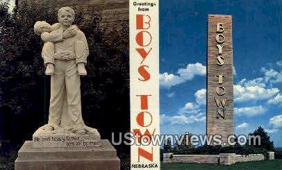 Boys Town, Nebraska   ;   Boys Town, NE Postcard