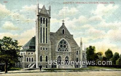 Kountze Memorial Church - Omaha, Nebraska NE Postcard