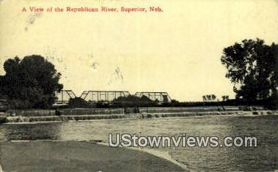 Republican River - Superior, Nebraska NE Postcard