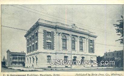 US Government Bldg - Hastings, Nebraska NE Postcard