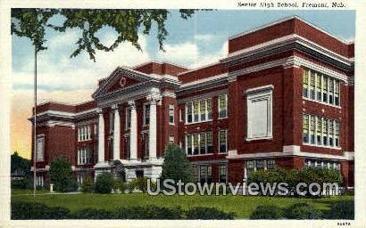 Senior High School, Fremont - Nebraska NE Postcard