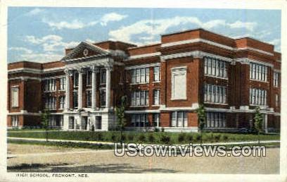 High School, Fremont - Nebraska NE Postcard