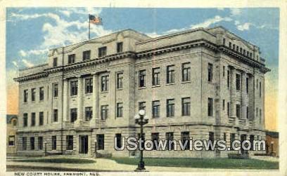 New Court House - Fremont, Nebraska NE Postcard
